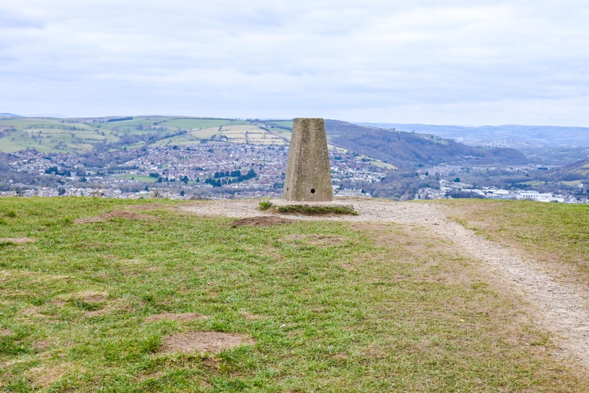 The top of Caerphilly Mountain