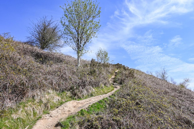footpath up the hill.Garth Mountain Walk