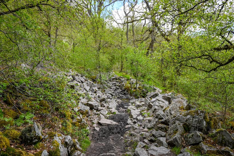 Brecon Beacons Waterfalls Walk hard footpath