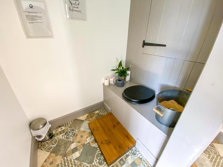 Royal Oak Farm Devon Cabins inside compost toilet