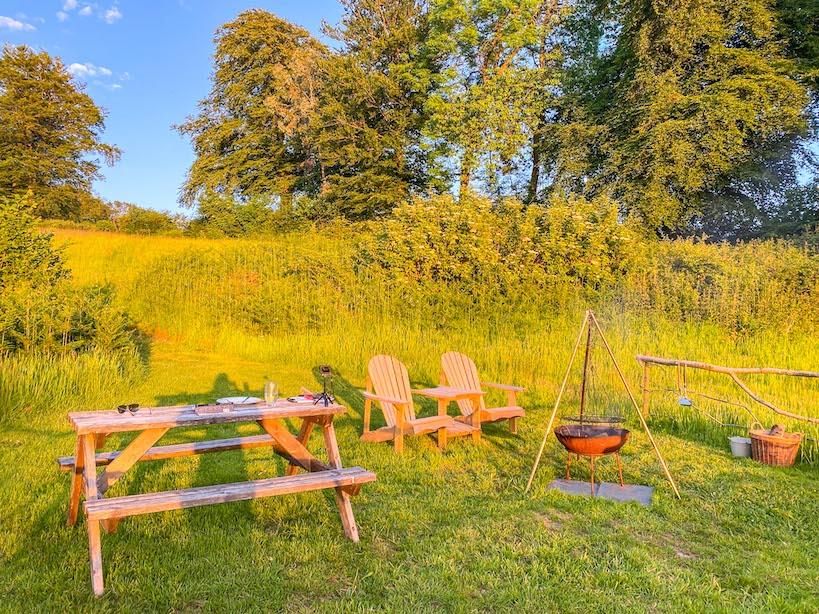 Royal Oak Farm Devon Cabins BBQ