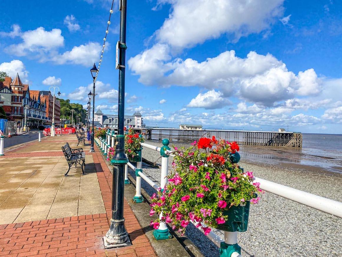 One Day in Cardiff, Penarth Beach near Cardiff
