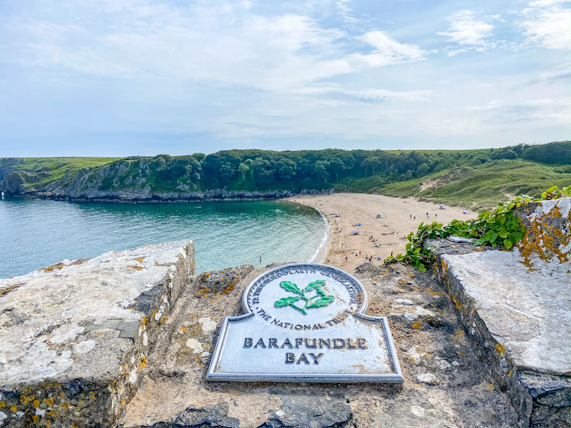 Best beaches in Pembrokeshire, Barafundle Bay
