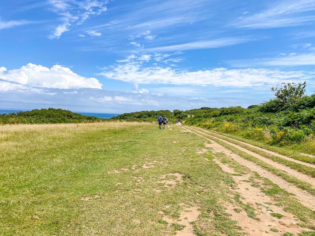 Old Harry Rocks Walk, Field Footpath from Studland