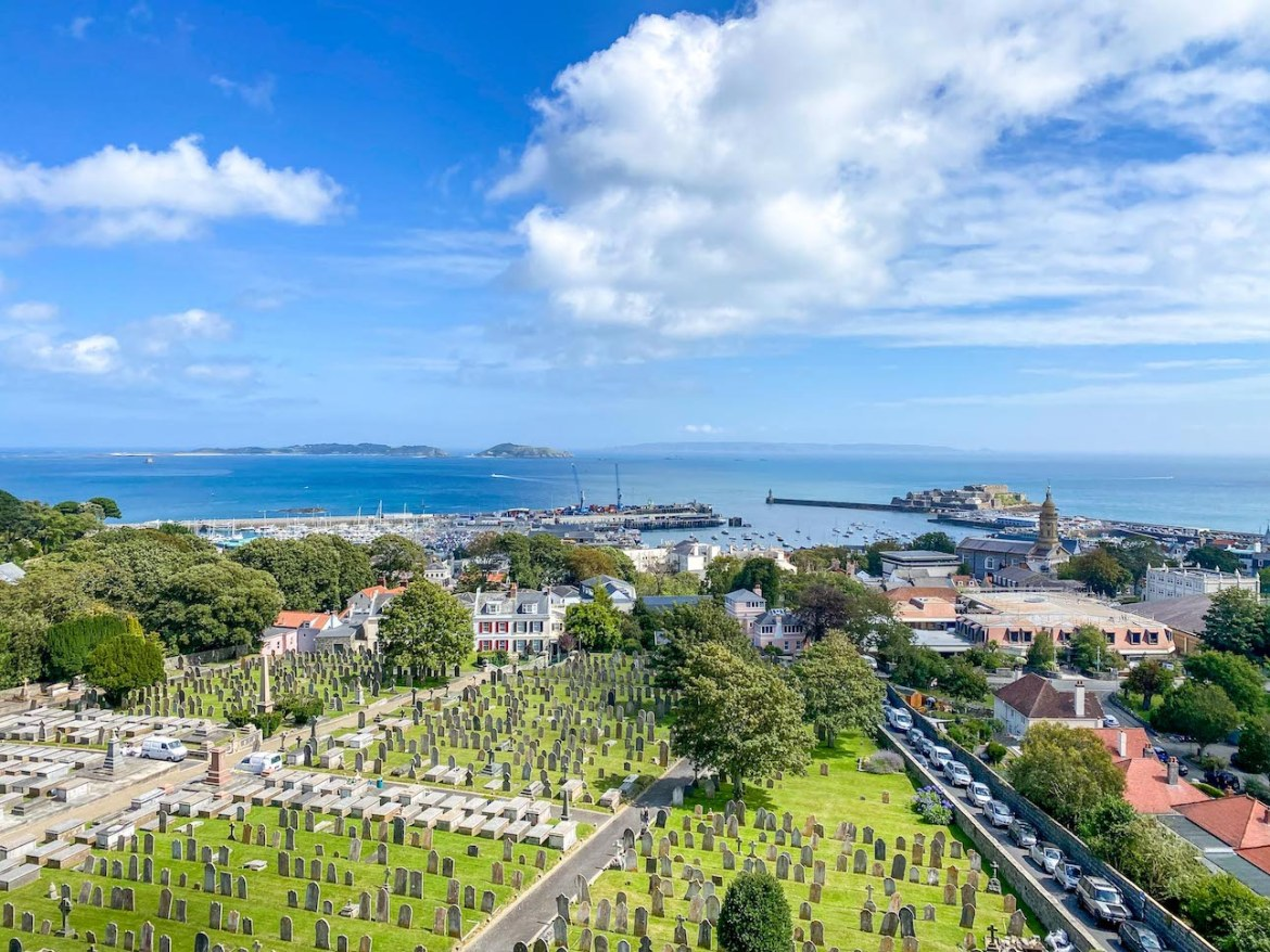Things to do on Guernsey, View from Victoria Tower St Peter Port