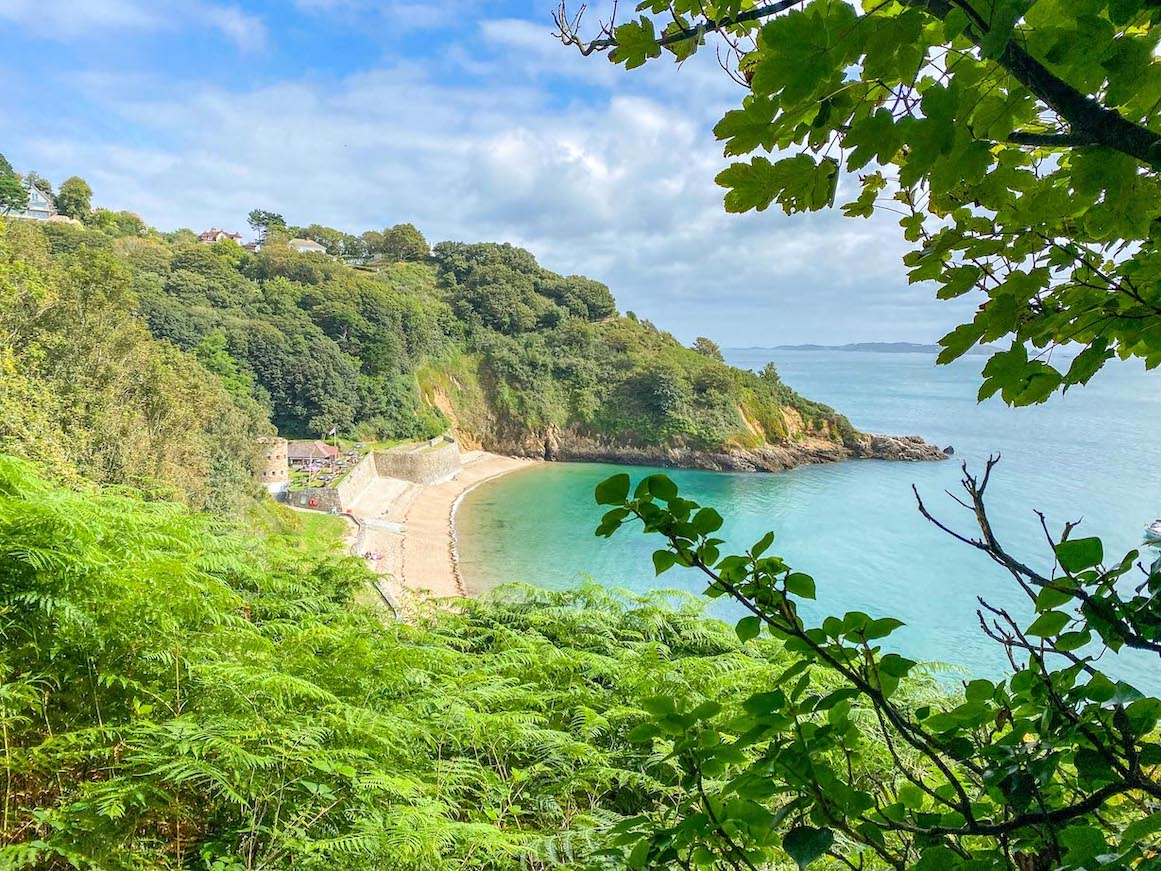 Guernsey itinerary, Fermain Beach and Cafe