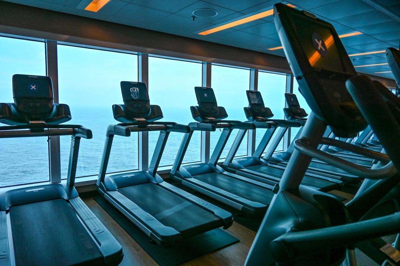 Princess Cruises from Southampton, ship gym