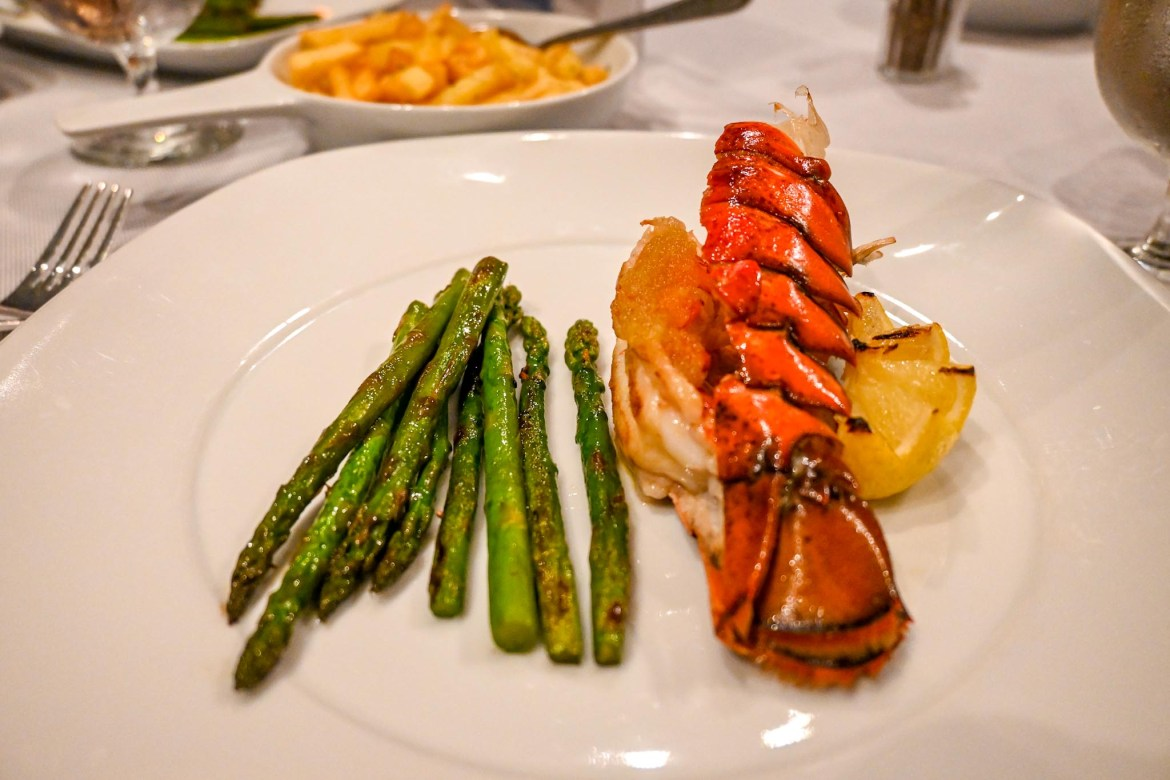 Princess Cruises from Southampton, lobster from crown grill