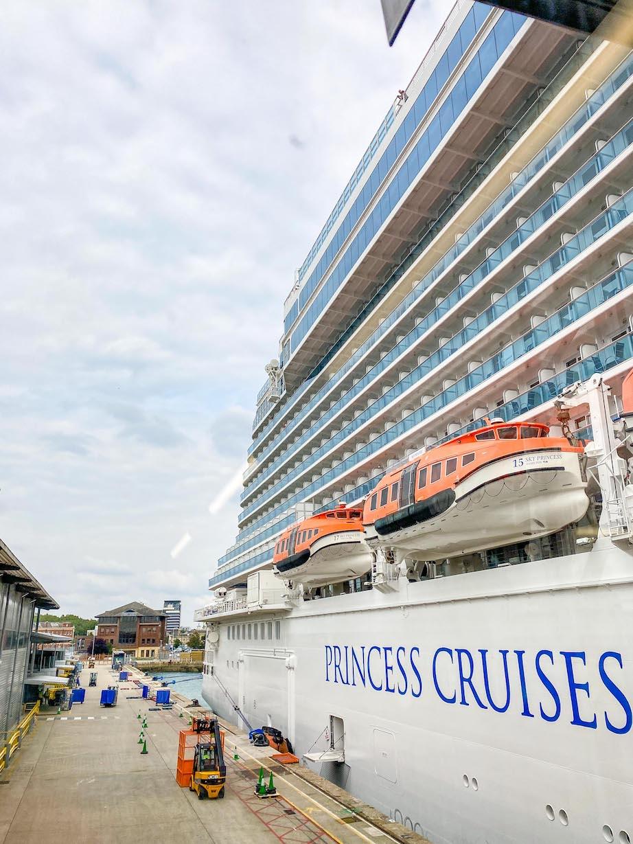 Princess Cruises Sky Princess at Southampton ocean cruise terminal