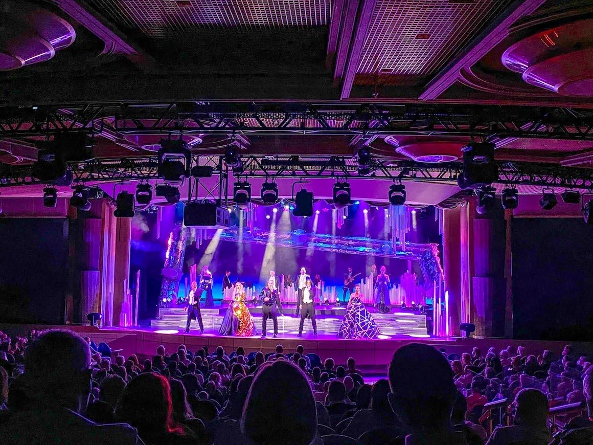 Princess Cruises from Southampton, live theatre performance