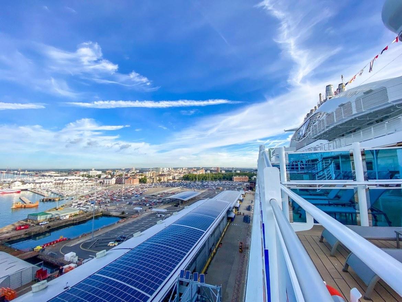 Princess Cruises from Southampton, ship at Southampton terminal