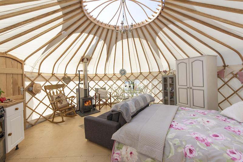 glamping in Devon, glamping Yurt Devon