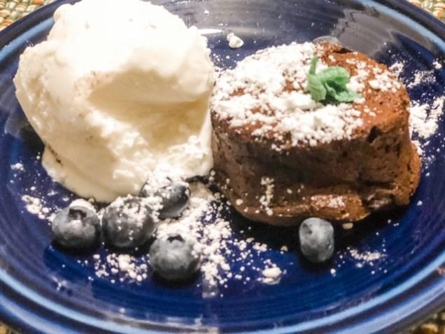 Birthday chocolate lava cakes