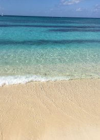 7 Mile Beach and that clear, blue water!
