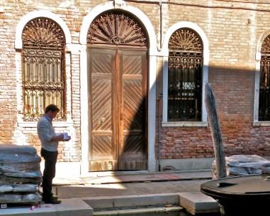 Door with sentinel windows, San Barnaba
