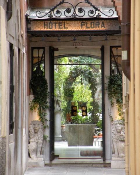 Glass doors, Hotel Flora, San Marco