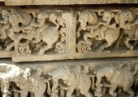 Deep Reliefs, Shore Temple, Mahaballipurum