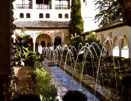 Generalife Fountains, Granada
