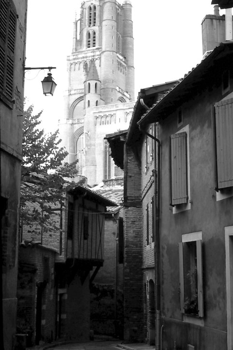 Albi - Potters Shop and Cathedral Tower