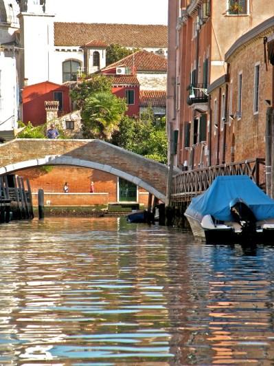 Bridge and blue boat - Zattere
