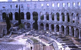 Looking Down into the Roman Theatre, Pula, (former) Yugoslavia