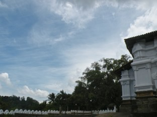 Wisps and curls, Lankatilaka Raja Maha Vihariya