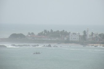 Galle Fort shrouded in sea mist