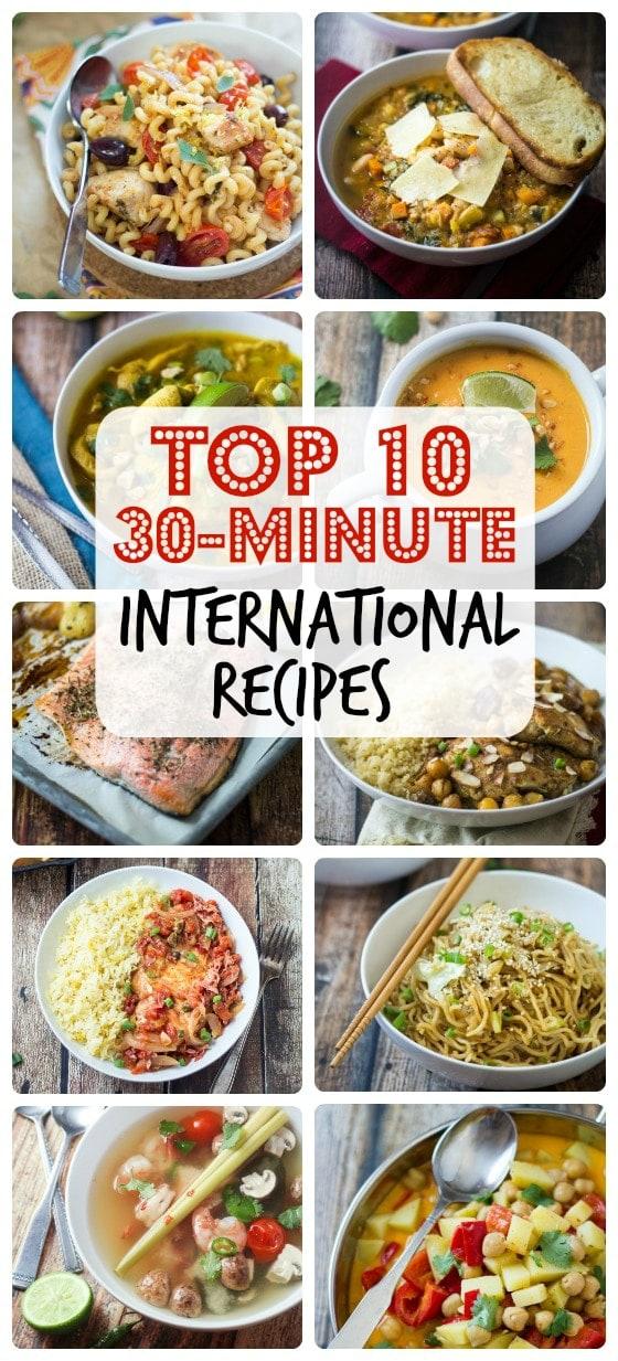 10 Best 30 Minute International Recipes