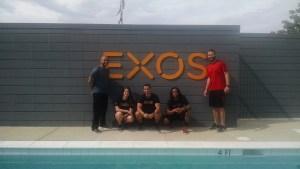 Some EXOS coaches and a few of us interns