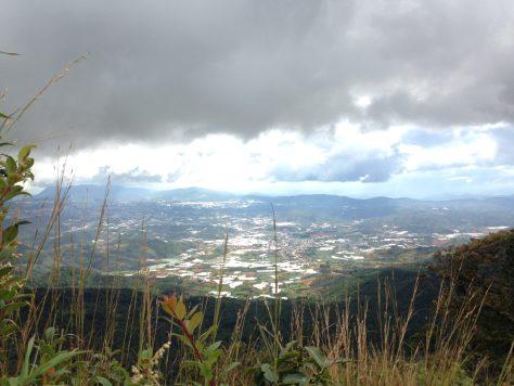View of Dalat City from Lang Biang Peak