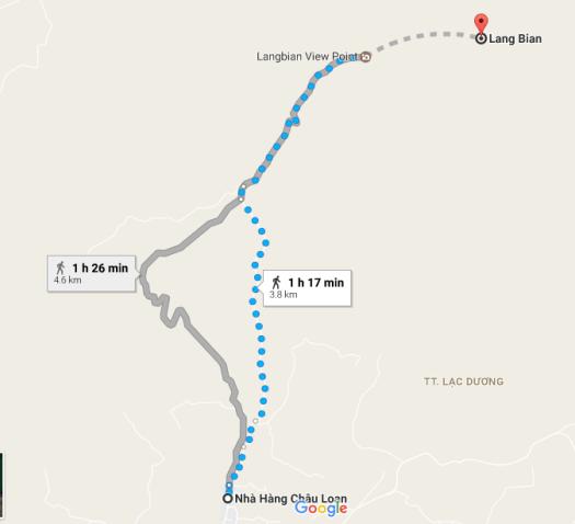 Lang Biang Map