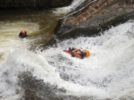 Natural water slide (Dalat Canyoning)