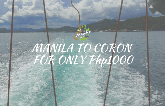 Cheap Manila to Coron