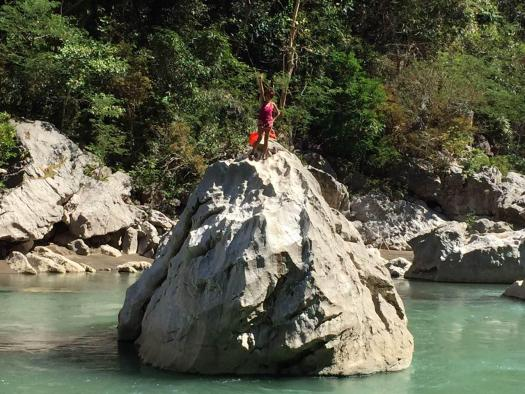 Cliff jumping area in Minalungao Park