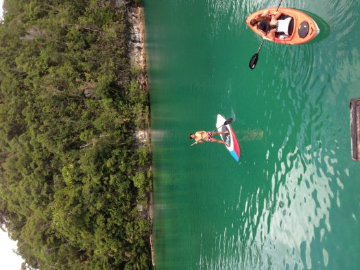 Do kayak and paddle boarding in Sugba Lagoon