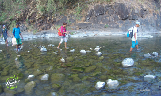 River crossings going to Baawan Falls in Sitio Quinao.