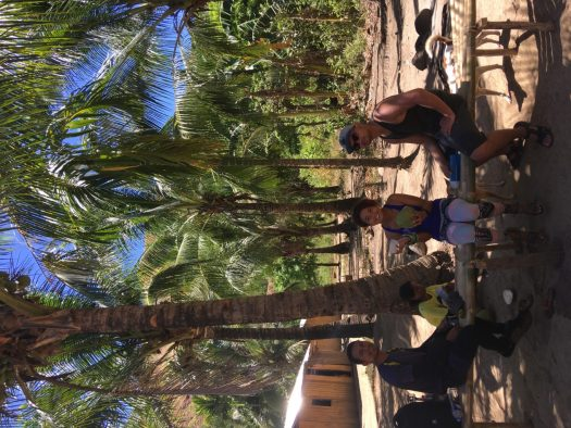 Coconut break at Sitio Quinao, around 30-45 minutes from the waterfalls