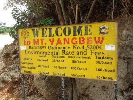 Registration fees at Mt. Yangbew