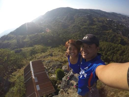 I and Jay at Mt. Kalugong's summit stone