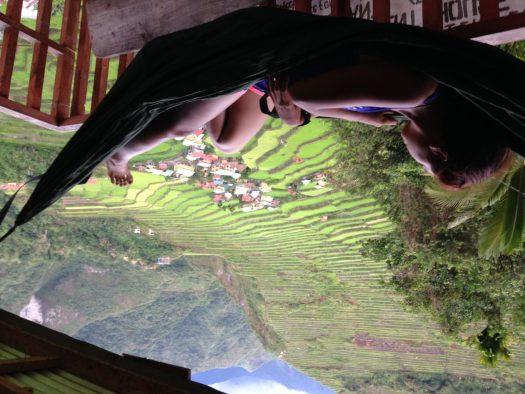 Hammocking in Batad transient house
