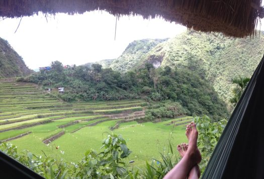Hammocking in the village of Batad