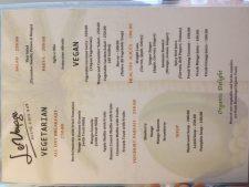 Le Voyage Coron Vegan Restaurant Menu