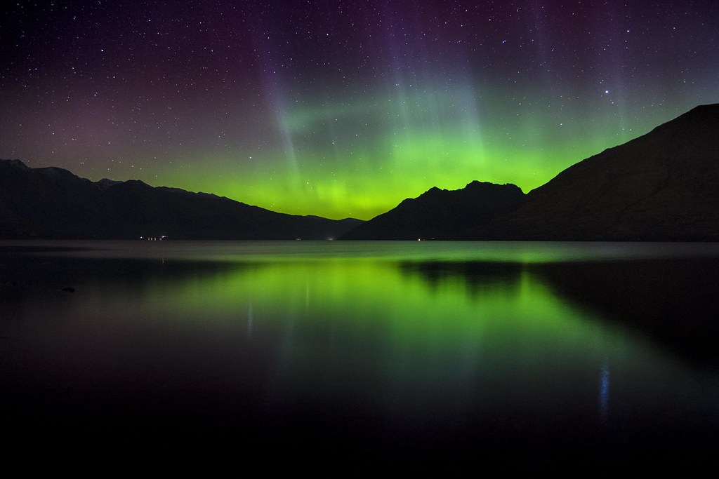 Southern Lights Aurora Australis in New Zealand
