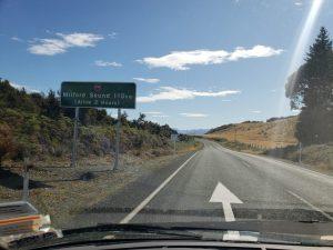 Milford Sound road from Te Anau