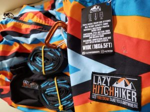 Lazy HitchHiker Hammock Package with upgraded allloy carabs and lazy tree hugger