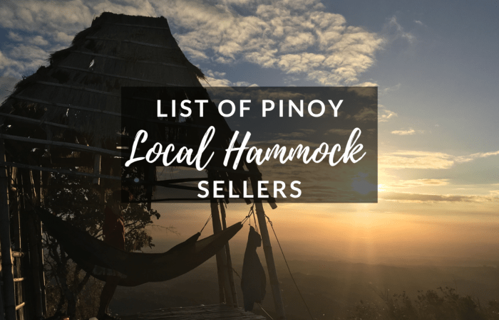 List of Local Hammock Sellers in the Philippines
