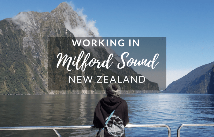 Working in Milford Sound