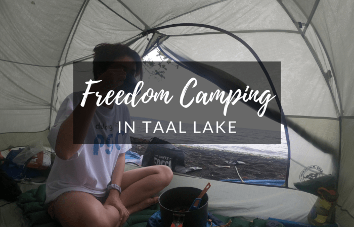 Freedom Camping in Taal Lake Philippines