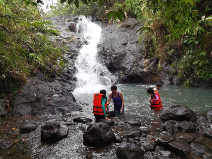 Bagumbong Falls - Real Quezon's hidden gem accessible via River Rafting.