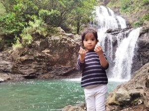 Our Little One's first Waterfall Trip in Balagbag Falls